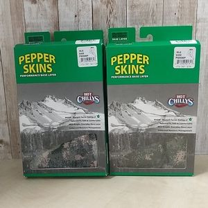 2pk Hot Chillys Pepper Skins Base Layer Youth XL
